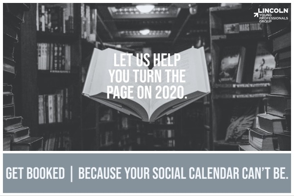 GET BOOKED: Because your social calendar can't be. Image